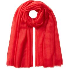 Agnona Cashmere Scarf (7 065 SEK) ❤ liked on Polyvore featuring accessories, scarves, red, cashmere shawl, red shawl, red scarves, agnona e cashmere scarves