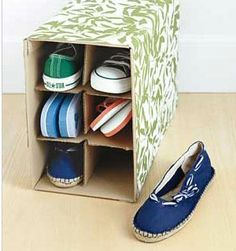 Click pic for 60 DIY Organization Hacks - Wine Box Shoe Storage | Easy Home Organization Ideas.