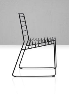 Stackable chair PARK is in steel rod with cataphoretically treated and painted structure. Suitable for indoors & outdoors. A design of Neuland Paster & Geldmacher, 2012.