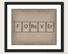 Periodic Table Word Poster - Forever - Wall Art Print - Available as 8x10, 11x14 or 16x20