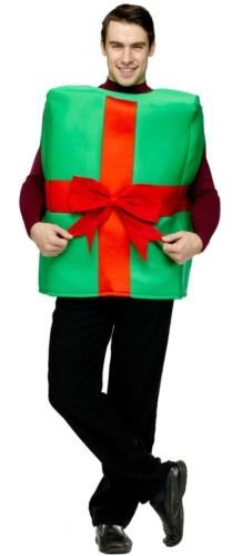 Gift Box Adult Costume for Christmas Party One Size by Fun World