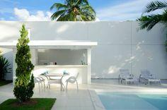 Ultra Modern White House Design in Camaçari, Brazil : White Style Swimming Pool Ideas