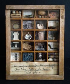 Lori Vrba Photography - assemblage Collages, Collage Art, Found Object Art, Found Art, Altered Boxes, Arte Assemblage, Shadow Box Art, Find Objects, Wall Decor