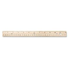 """Hole Punched Wood Ruler English and Metric With Metal Edge, 12"""" ACM10702"""