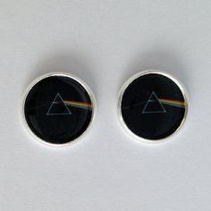 Pink Floyd – Dark Side of the Moon – stud earrings – Free Shipping! on Etsy, $10.00
