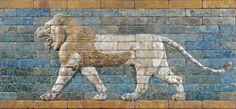 Panneau de briques  de Babylone : lion passant, 605-562 avant J.-C