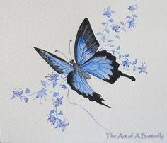 Original watercolor painting butterfly by TheArtOfAButterfly, $51.00