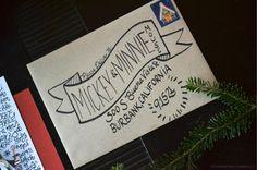 Hand-lettered Kraft Christmas Card Envelopes - via Annie Franceschi for Greatest Story Creative (www.greateststorycreative.com)