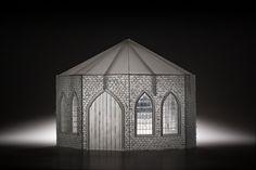"Deirdre Feeney ""My winter vault"" 285x240x235mm cut glass video animation. Photographer David McArthur"