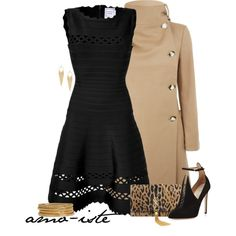 """Herve Leger Dress"" by amo-iste on Polyvore"