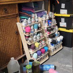 20 Can Spray Paint or Lube Can Wall Mount Storage Holder Rack | Etsy Diy Garage Storage, Attic Storage, Dollar Store Hacks, Dollar Stores, Tabletop, Microsoft, Clutter Organization, Garage Organization, Cnc Maschine