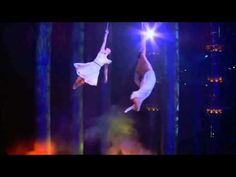 Cirque du Soleil Worlds Away- Aerial Straps HD - YouTube This has got to be the nearest thing to flying humans can do!