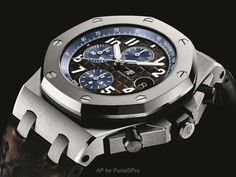 Audemars Piguet SIHH2018: Royal Oak Offshore 42mm Collection With 2018 marking the 25th Anniversary of the Royal Oak Offshore, you expected an Offshore barrage, right? Here is a random sampling of some new models, details to follow. Grey Ceramic bezel: Grey and gold... this model might become my first colored gold Offshore. It is superb: Platinum for the stou from watchProSite.com