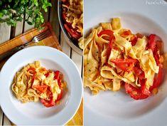 tagiatelle wegetarianskie Polish Recipes, Cabbage, Pasta, Vegetables, Cooking, Food, Kitchen, Polish Food Recipes, Vegetable Recipes
