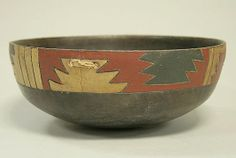 Greyware Bowl with Incised Geometric Patterns Date: 3rd century BCE Geography: Peru, Ica Valley Culture: Paracas Medium: Ceramic, pigment...
