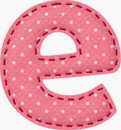 Alfabeto Fresa con Lunares Blancos.