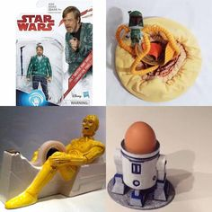 KID's Top 4 LEAST-FAVORITE STAR WARS TOYS  A) Luke Skywalker Off-Camera in Ugly Blue Sweater Featured In No Movie -- EVER  B) Cuddly Sarlaac Devours Victim Pillow  C) 3PO Show Me Where He Touched You Tape-Dispenser  D) R2-D2 Does Nothing But Hold An Egg-Cup