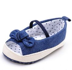 Denim Toddler Casual Open Toes & Bows