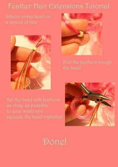 Feather hair extensions DIY now with TUTORIAL - BATH AND BEAUTY