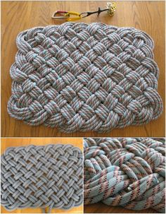 Climbing Rope Weave - 30 Magnificent DIY Rugs to Brighten up Your Home