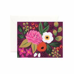 Carte postale fleurs blossom vintage par Rifle Paper CO - cadeau - Boutique La Rose Pourpre