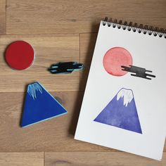 Mont Fuji #montfuji #japanstyle #linocut #linogravure #gommeagraver #tampon #rubberstamps #stamping #carving #printin