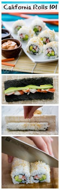 Everything you need to know to make the best California rolls: Perfect sushi rice, dips, sauces and secret techniques! A full step-by-step photo tutorial! @natashaskitchen