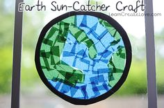 { Earth Sun-Catcher Craft } from LearnCreateLove.com