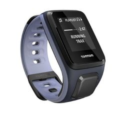TomTom Spark Cardio + Music GPS Tracking Sports and Fitness Watch - 1RFM.002 (Sky Captain/Purple Haze - Small Strap)