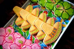 fiesta party - sombrero and flower cookies by Felix the Cook work bag, gym bag, lunch bag, purse
