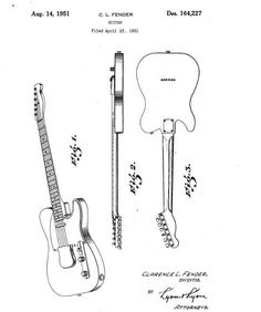 original sketch for the fender telecaster #telecaster.