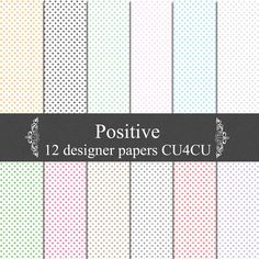 KatiesWish: Positive thoughts free digital papers