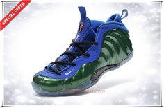 chaussure basketball junior Grass Vert / Bleu Nike Air Foamposite One Hommes