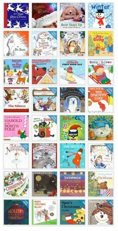 Great list of holiday and winter books for kids...