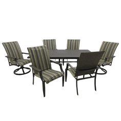 Outdoor Innovation Ravena Aluminum 7 Piece Patio Dining Set - 8442C/