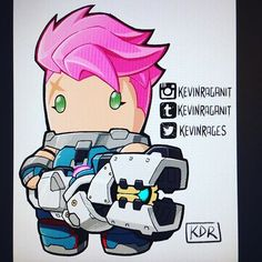 #Zarya from #Overwatch #blizzardentertainment #videogame Worked in #mangastudio program #cintiq companion 2.
