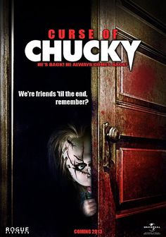 When Chucky told us in 1988 that he was our friend 'till the end, he meant it. In the tiny, terrifying torturer will grace cinematic screens yet again with his newest film, Curse of Chucky. Here's a poster for the upcoming movie below. New Chucky Movie, Chucky Movies, Halloween Movies, Scary Movies, Good Movies, Horror Movie Posters, Horror Films, Horror Art, True Blood