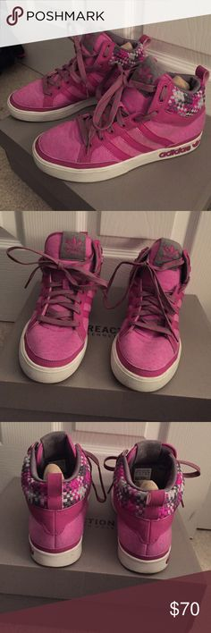 High top sneakers High top Addidas sneakers! No tag, but never worn! Adidas Shoes Sneakers