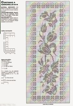 Free Crochet Doily Patterns, Filet Crochet Charts, Knitting Charts, Crochet Designs, Crochet Doilies, Hand Crochet, Crochet Flowers, Thread Crochet, Crochet Stitches
