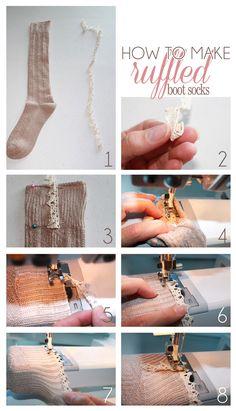 DIY ruffled boot sock tutorial