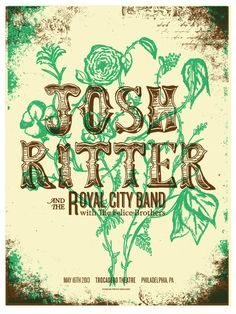 Josh Ritter Poster for the Trocadero in Philly