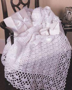 Beautiful Baby Afghan Crochet Patterns - Christening Blanket