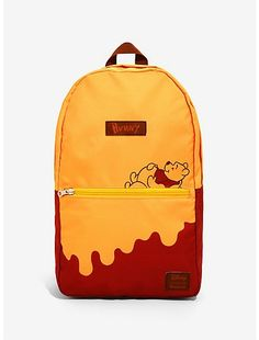 Loungefly Disney Winnie The Pooh Honey Drip Convertible Storage Backpack - BoxLunch Exclusive, Winnie The Pooh Honey, Winne The Pooh, Disney Winnie The Pooh, Cute Backpacks For School, Cool Backpacks, College Backpacks, Stylish Backpacks, Diaper Backpack, Mini Backpack