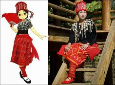 Traditional Clothes of Jingpo People in China