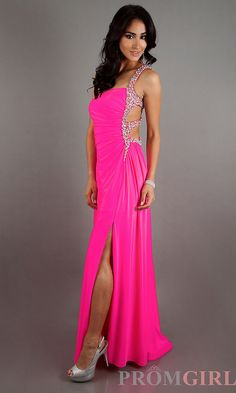 This is a great alternative to a wedding dress for the sexy Rock n Roll bride! neon color stuff   Prom Dresses, Celebrity Dresses, Sexy Evening Gowns at PromGirl: One ...
