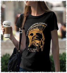 Face Everything and Rise. Molon Labe. Women's: Gildan Ladies' 100% Cotton T-Shirt. Black.  #loyalnineapparel #loyalnineclothes #rangegirl #2ndamendment #molonlabe #righttobeararms #pew #girly #threepercent #comeandtakethem #fashion #cute #comeandtake #womensshirt #girlswhoshoot #womenwhoshoot #teeshirt #gungirl #livefreeordie #ootd #country #stylish #countrygirl #shallnotbeinfringed #southern #guns #2a #tshirt #girlswithguns #nra