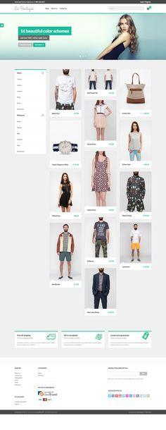 LemonStand - La Boutique responsive theme - ecommerce website design #ecommercewebsite by http://www.techidea.co.nz/blog/