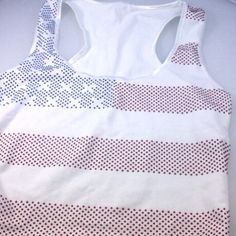Color rhinestud hotfix american flag t shirt made by fashionstrass.