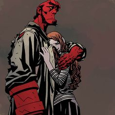 Hellboy and Alice. I know everyone else likes Liz better, but honestly Alice was always my favorite. Hellboy Liz, Hellboy Comics, Comic Character, Character Design, Character Inspiration, Hellboy Tattoo, Mike Mignola Art, Comic Art, Comic Books