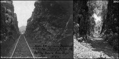 Redescubriendo a Puerto Rico: El corte de montaña ferroviario de Guaniquilla, ayer y hoy.